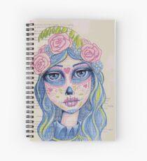 Sugar Skull Girl 1 of 3 Spiral Notebook