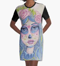 Sugar Skull Girl 1 of 3 Graphic T-Shirt Dress