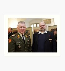 Me and Lithuanian Armed Forces Commander Art Print