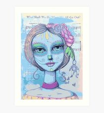 Sugar Skull Girl 2 of 3 Art Print