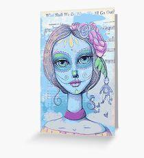 Sugar Skull Girl 2 of 3 Greeting Card