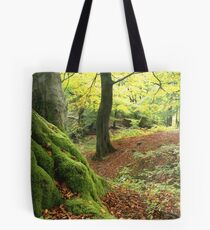 Mossy tree trunk Tote Bag