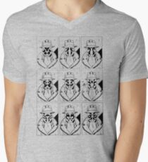 The many faces of Rorschach Men's V-Neck T-Shirt
