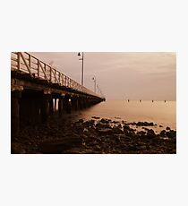 ghost pier Photographic Print