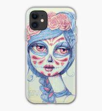 Sugar Skull Girl 3 of 3 iPhone Case