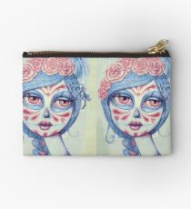 Sugar Skull Girl 3 of 3 Zipper Pouch