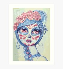 Sugar Skull Girl 3 of 3 Art Print