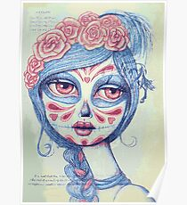 Sugar Skull Girl 3 of 3 Poster