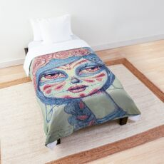Sugar Skull Girl 3 of 3 Comforter