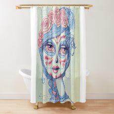 Sugar Skull Girl 3 of 3 Shower Curtain