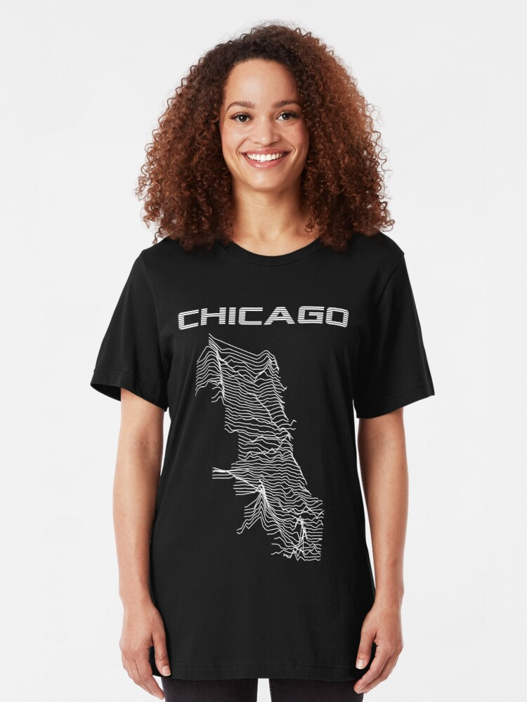 Alternate view of Unknown Elevations - Chicago Slim Fit T-Shirt
