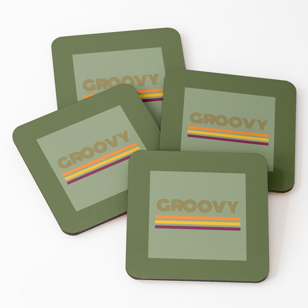 Groovy  Coasters (Set of 4)