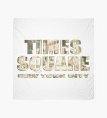 Times Square New York City (golden glow on white) Scarf