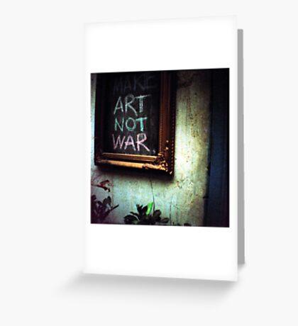 art not war, siem reap, cambodia Greeting Card