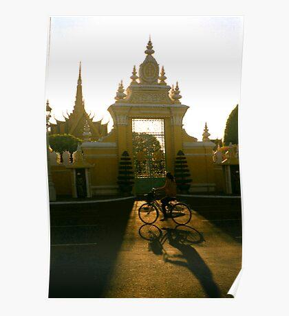 palace gate, phnom penh, cambodia Poster