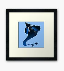 The Genie and the Moon  Framed Print