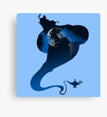 The Genie and the Moon  Canvas Print