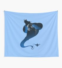 The Genie and the Moon  Wall Tapestry