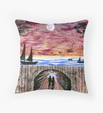 Yachts Throw Pillow
