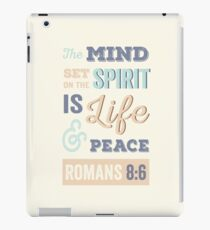 Happy, Bright, Colourful, Modern Typographic Bible Verse. iPad Case/Skin