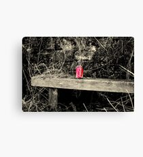 """COKE ON OAK"" Canvas Print"