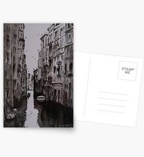 Venice Canal - Pen and Ink and Wash Postcards
