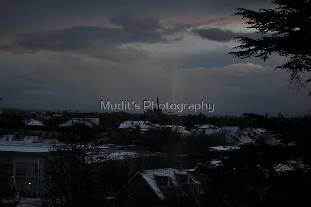 Once upon a time in the morning after snow ..... by Mudit's Photography