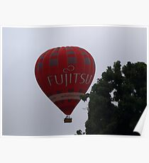 Balloon over my suburb. Poster