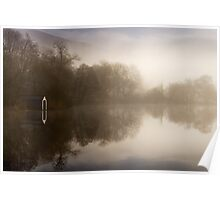 Sunlight on the boathouse... Loch Ard, Trossachs Poster