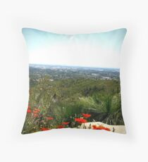Summer Afternoon in the Hills Throw Pillow