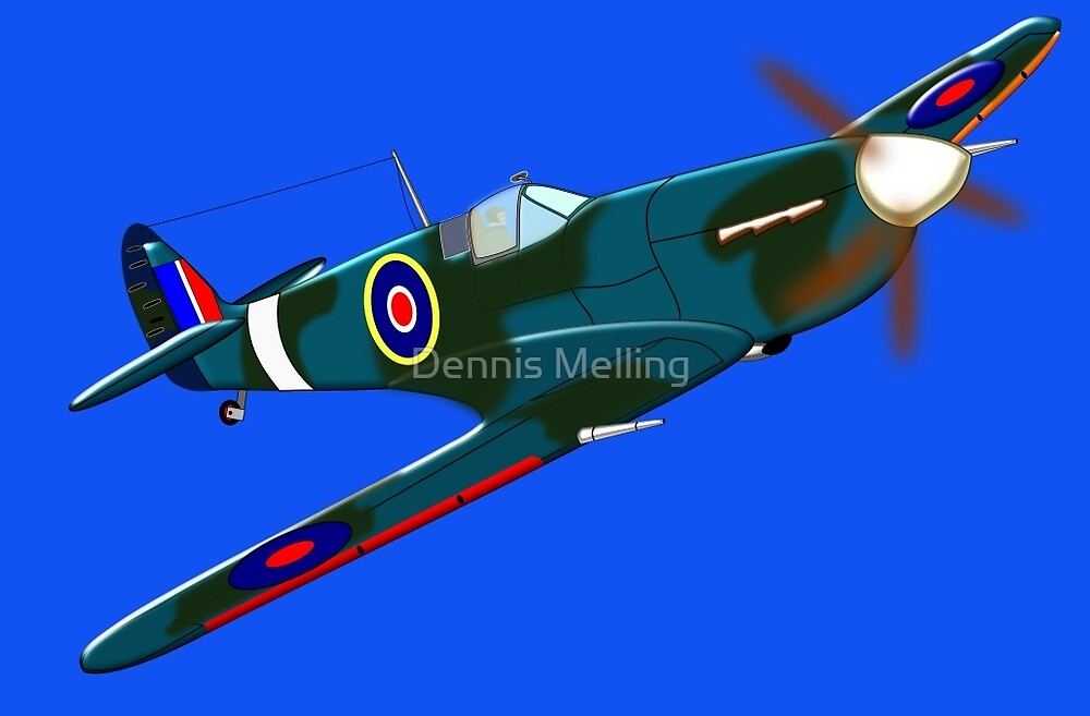 iconic Supermarine Spitfire by Dennis Melling