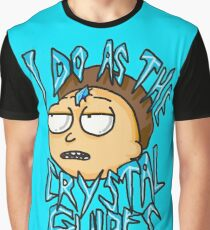 "Morty ""I Do As The Crystal Guides"" quote from Rick and Morty™ Death Crystal Graphic T-Shirt"