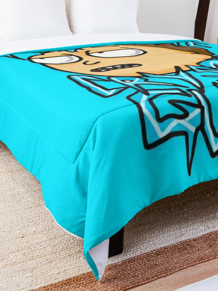 """Alternate view of Morty """"I Do As The Crystal Guides"""" quote from Rick and Morty™ Death Crystal Comforter"""