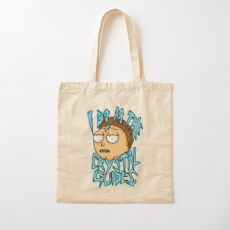 """Morty """"I Do As The Crystal Guides"""" quote from Rick and Morty™ Death Crystal Cotton Tote Bag"""