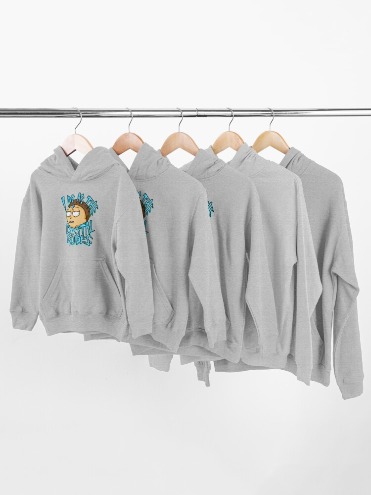"""Alternate view of Morty """"I Do As The Crystal Guides"""" quote from Rick and Morty™ Death Crystal Kids Pullover Hoodie"""