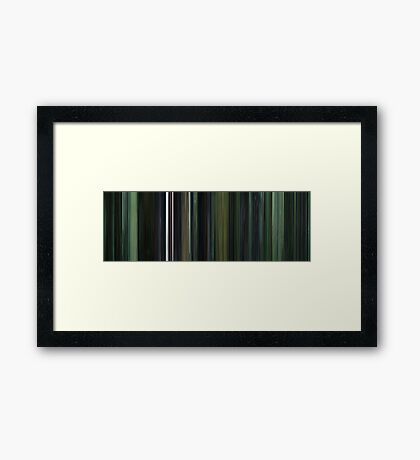 Moviebarcode: The Matrix (1999) Framed Print