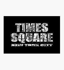 Times Square New York City (B&W market sketch on black) Photographic Print