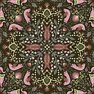 Whimsical tile in brown by Gaia Marfurt