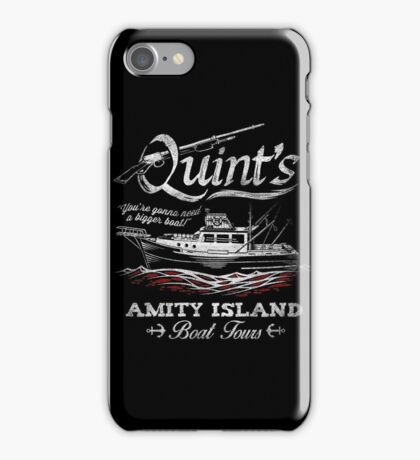 Quint's Boat Tours iPhone Case/Skin