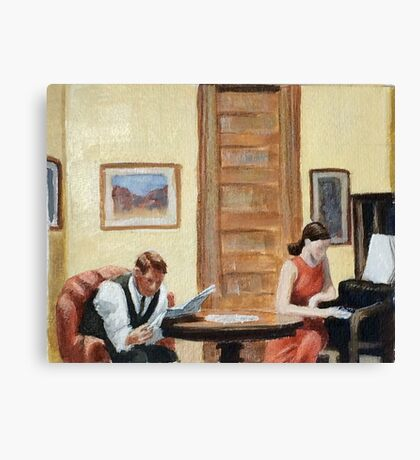 After Hopper Room in New York Canvas Print