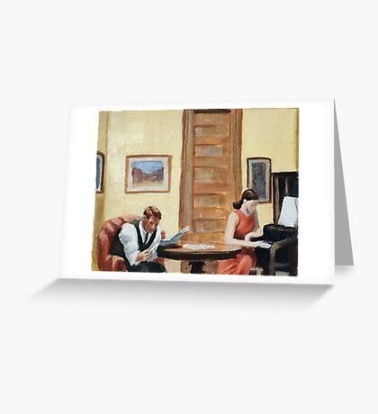 After Hopper Room in New York Greeting Card