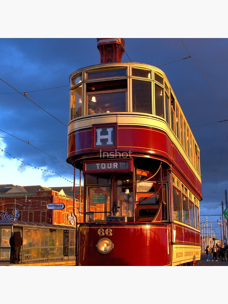 Blackpool Heritage Tram and Blackpool Tower by Inshot
