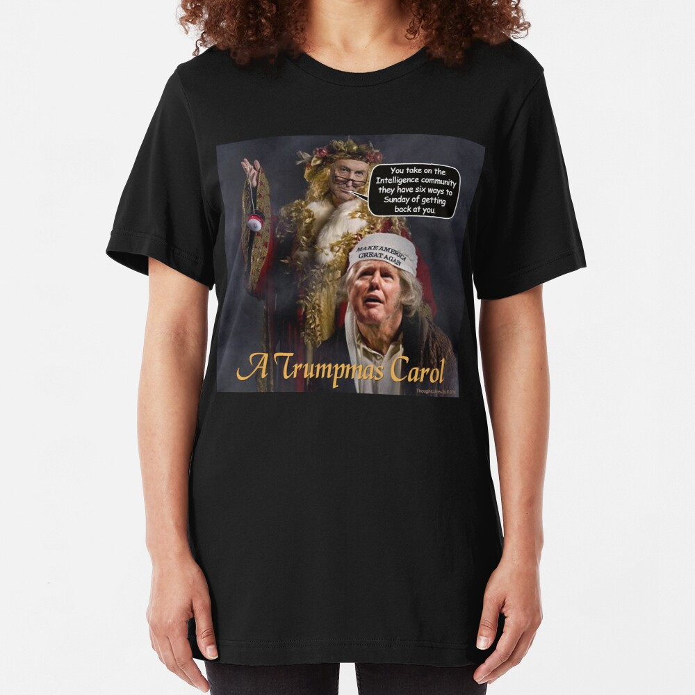 A Trumpmas Carol Slim Fit T-Shirt