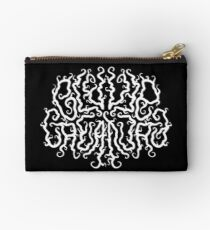 Death Metal Logo - White Zipper Pouch