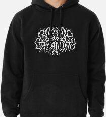 Death Metal Logo - White Pullover Hoodie