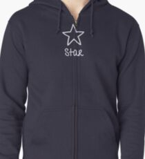 Be Yourself - Star Zipped Hoodie