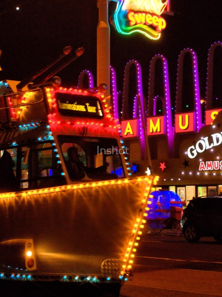 Classic Heritage Boat Tram at Blackpool Illuminations by Inshot