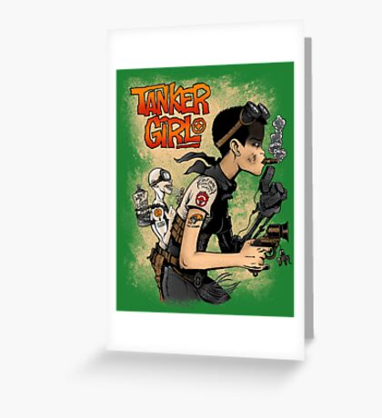 Tanker Girl Greeting Card