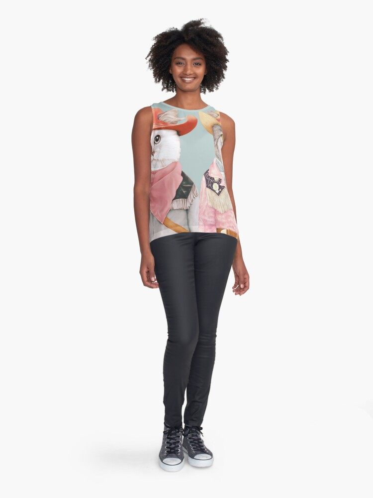 Alternate view of Cowboy Cats Sleeveless Top
