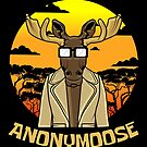 Anonymous moose Funny sun nature steppe deer gift by Pulvertoastmann